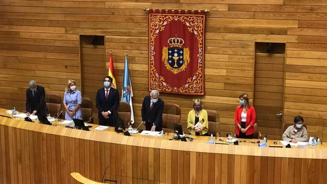 Imagen de los miembros de la Mesa del Parlamento para la XI Legislatura
