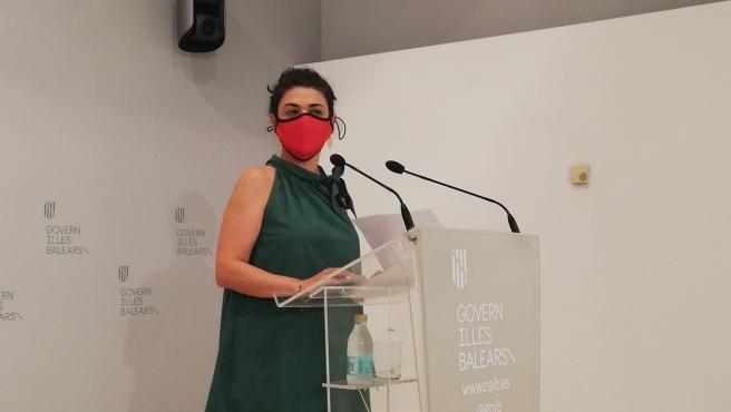 La consellera de Modernización y Administraciones Públicas, Isabel Castro, durante la rueda de prensa posterior al Consell de Govern.