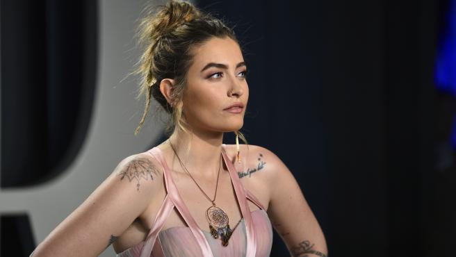 Paris Jackson en la fiesta de los Oscar de Vanity Fair en febrero de 2020.