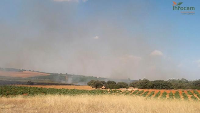 Incendio agrícola declarado en Socuéllamos