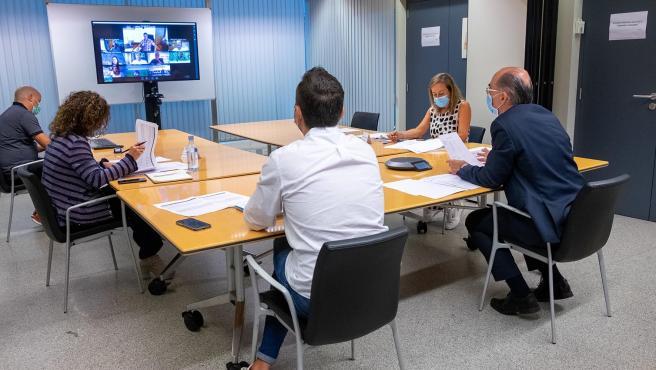 13,00 h.- O conselleiro de Sanidade, Jesús Vázquez Almuiña, manterá unha xuntanza cos alcaldes da comarca da Coruña, na sala 0.2-0.3, na planta baixa. foto xoán crespo 10/08/2020