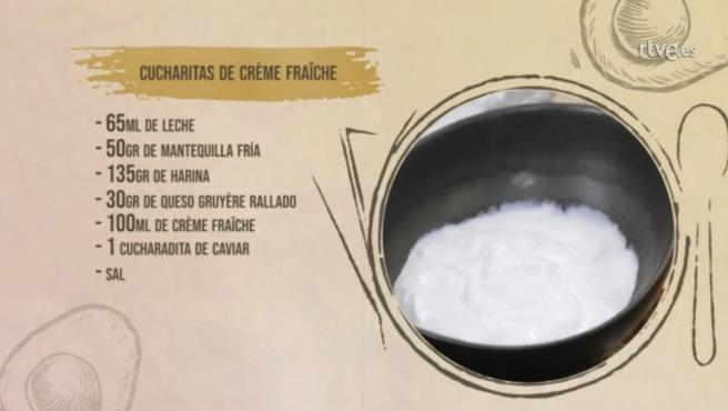 Receta de chucharillas de crème fraiche.