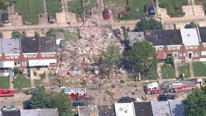 Imagen de la explosión en Baltimore