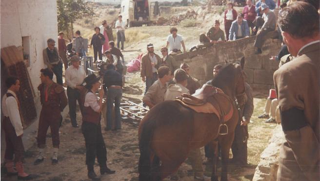 Rodaje de La Vaquilla, de Luis García Berlanga. Foto Àlex Cuartero Wikimedia Commons