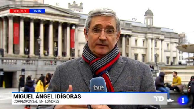 Miguel Ángel Idígoras, periodista de TVE.