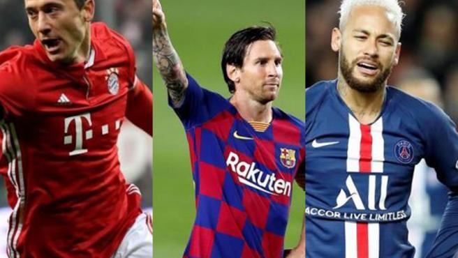 Lewandowski, Messi, Neymar, estrellas de sus equipos.