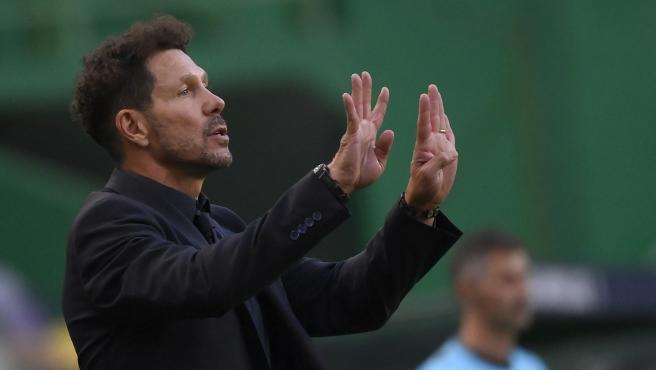 El entrenador del Atlético de Madrid Diego Pablo Simeone.
