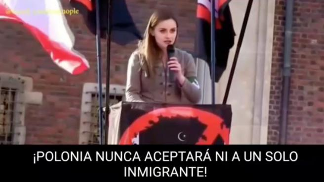 Captura del video compartido y borrado por Rocio de Meer.