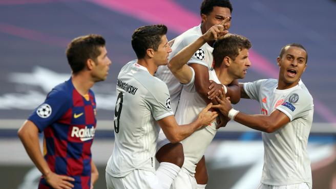 Los jugadores del Bayern marcaron a los tres minutos.