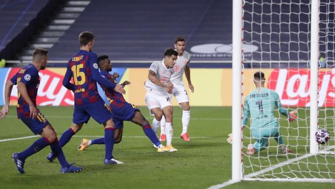 El atacante cedido en el Bayern marcó dos goles a 'su' equipo.