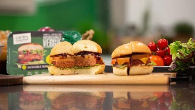 Imagen de archivo de una hamburguesa vegetal.