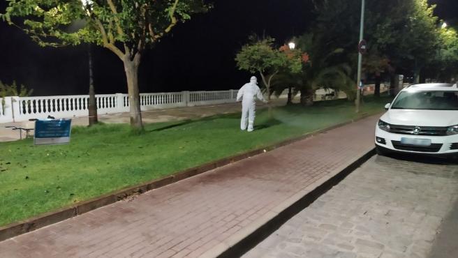 Labores de fumigación contra el mosquito del virus del Nilo