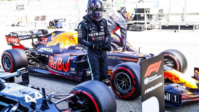Lewis Hamilton, tras conseguir la pole del GP de España