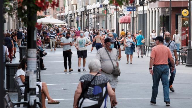 Imagen de la calle mayor de Triana de Las Palmas de Gran Canaria, este fin de semana.