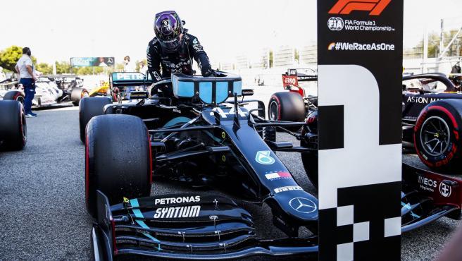 Lewis Hamilton, tras lograr la pole del GP de España