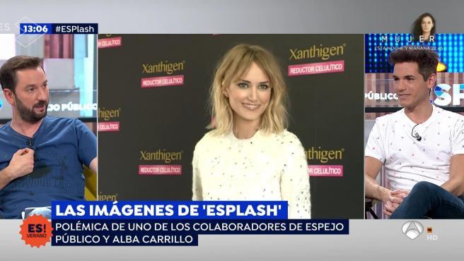 Diego Revuelta responde a Alba Carillo en 'Espejo público'.