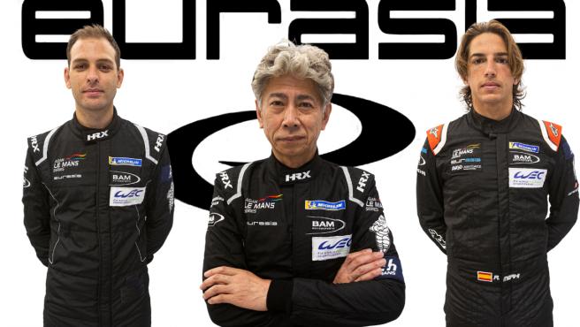 Nick Foster, Nobuya Yamanaka y Roberto Merhi, pilotos del Eurasia Motorsport