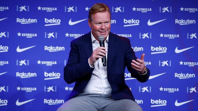 Ronald Koeman, presentado como entrenador del Barça.