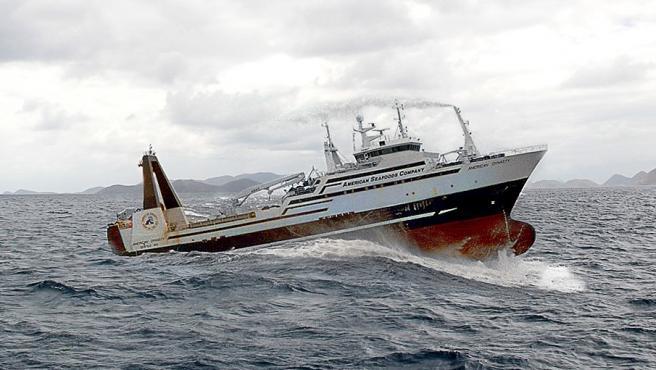 Imagen del pesquero American Dynasty, perteneciente a la flota de barcos de la empresa American Seafoods.