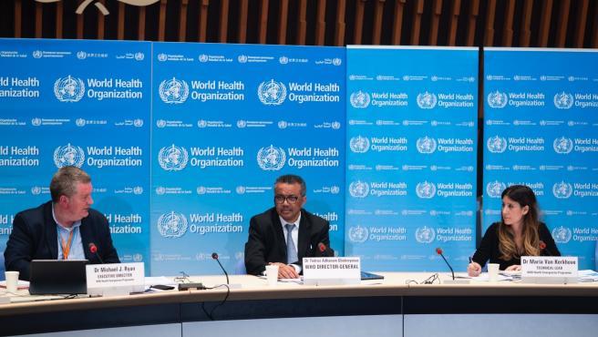 El director general de la Organización Mundial de la Salud, Tedros Adhanom Ghebreyesus, comparece en rueda de prensa, en una imagen de archivo.