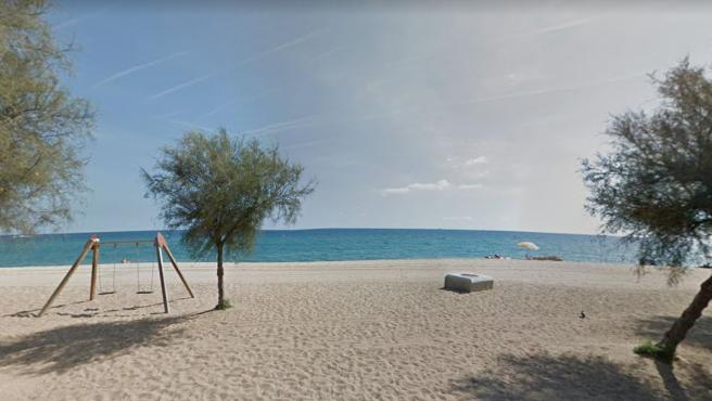 Imagen de la playa de la Estación de Badalona.