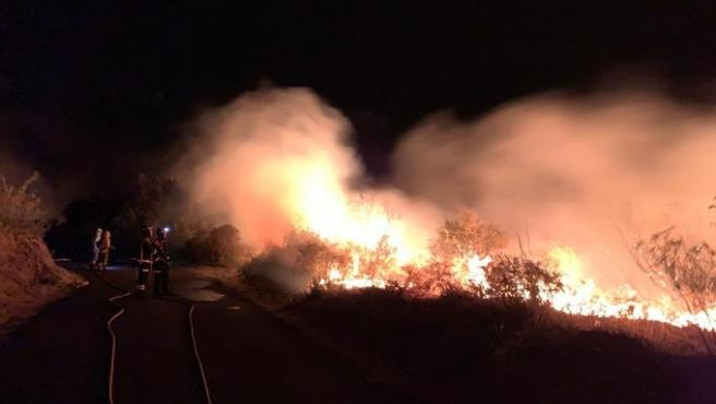 Incendio en La Palma en la pasada noche