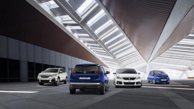 Varios modelos Peugeot.