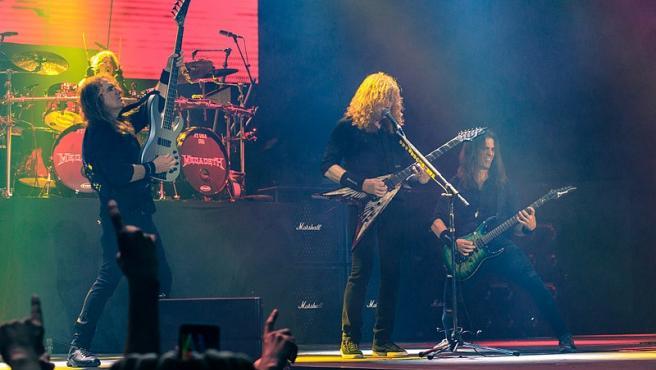 Megadeth tocando en vivo en el O2 de Londres, 16 de junio de 2018. Foto Kreepin Deth Wikimedia Commons