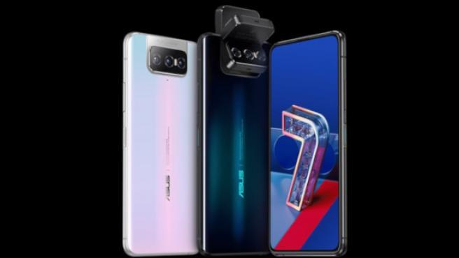 Vistas del ASUS Zenfone 7 Pro con su llamativa cámara abatible y rotatoria