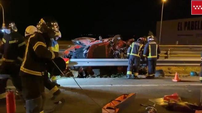 Accidente de tráfico en Fuenlabrada.