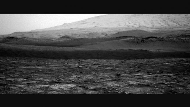 Imagen del diablo de viento captado por el Rover Curiosity.