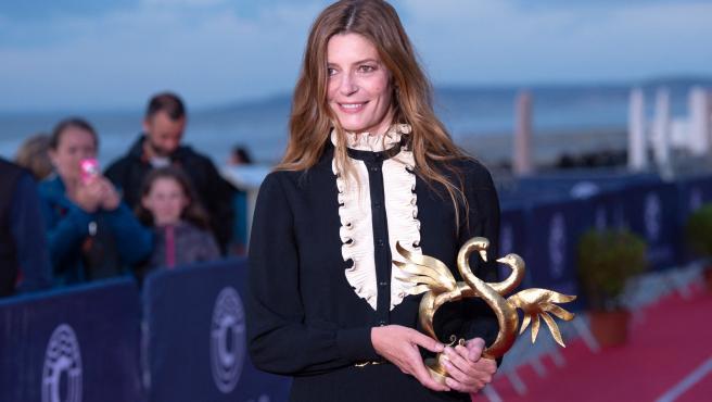 La actriz Chiara Mastroianni en el festival de cine de Cabourg.