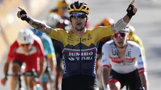 Primoz Roglic, ganador de la cuarta etapa del Tour.