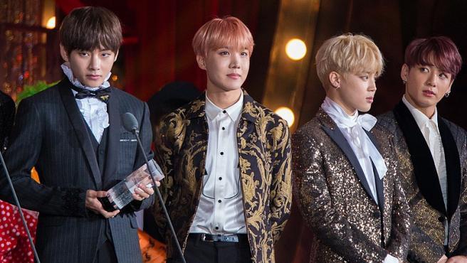 BTS en Melon Music Awards 2016 Foto F28STAR Wikimedia Commons