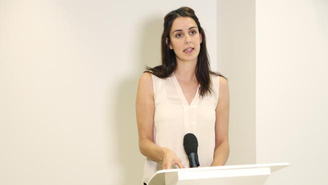 Imagen de archivo de la portavoz de Más Madrid en el Ayuntamiento de la capital, Rita Maestre.