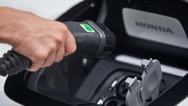 Carga coche eléctrico.