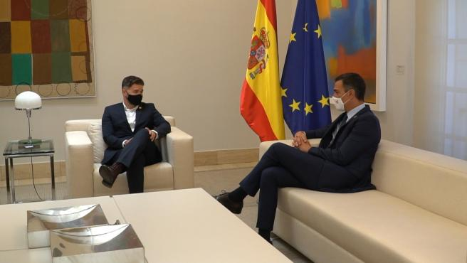 Sánchez recibe a Rufián en La Moncloa