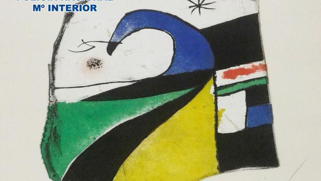 Cuadro extraviado de Miró