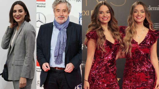 Tamara Falcó, Carlos Iglesias y las Twin Melody, en imágenes de archivo.