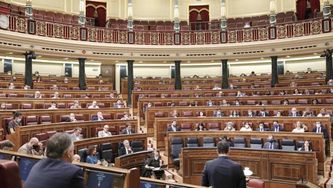 Imagen de archivo de una sesión plenaria en el Congreso de los Diputados.