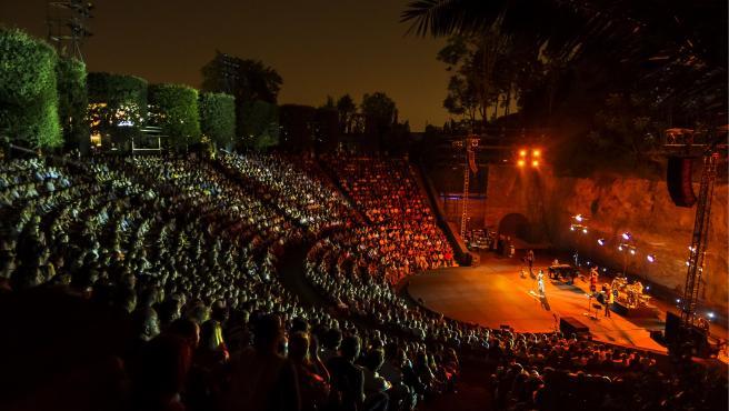 Anfiteatro del Teatre Grec de Barcelona, uno de los nuevos espacios que acogerá la programación musical de La Mercè 2020 (archivo)