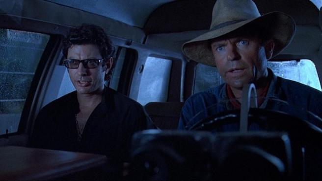 Jeff Goldblum y Sam Neill cantan desde el rodaje de 'Jurassic World: Dominion'