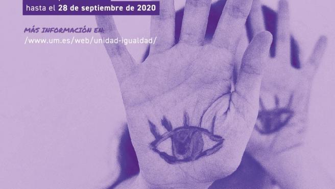 Cartel que anuncia los premios a los mejores trabajos universitarios en materia de violencia de género