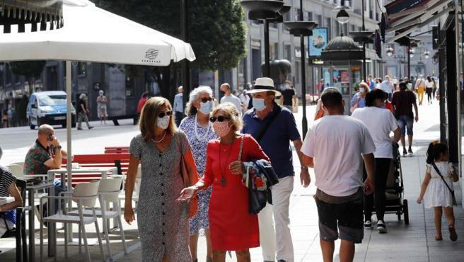 Vista de una calle del centro de Oviedo en una imagen de archivo.