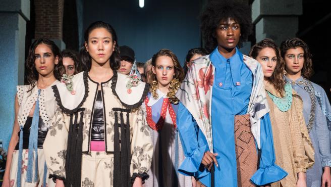 Colección de la diseñadora Beatriz Peñalver presentada en la Semana de la moda de Madrid.