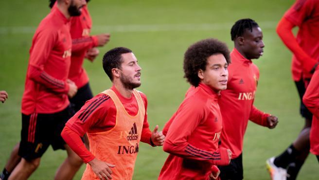 El centrocampista del Real Madrid, en un entrenamiento con su selección.