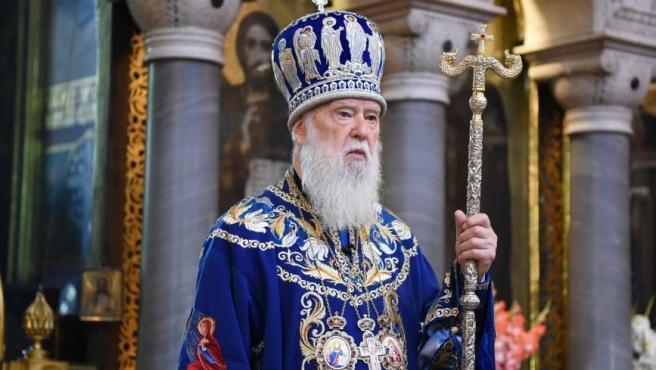 El patriarca de la Iglesia ortodoxa ucraniana, Mykhailo Denysenko.