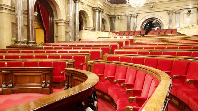 El hemiciclo del Parlament vacío, en una imagen de archivo.