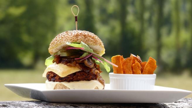 Imagen de archivo de una hamburguesa vegetariana.