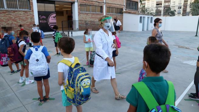 Primer día de clase en un centro de la provincia de Málaga.